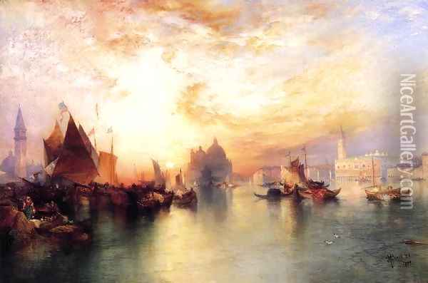 Venice From Near San Giorgio Oil Painting - Thomas Moran