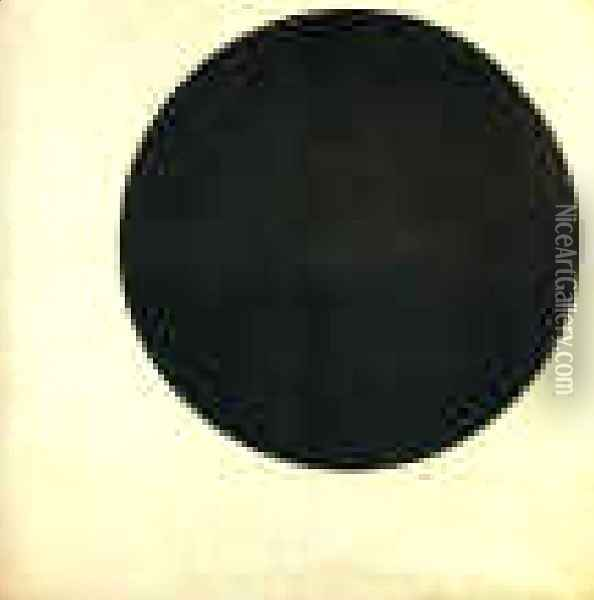 Black Circle Oil Painting - Kazimir Severinovich Malevich