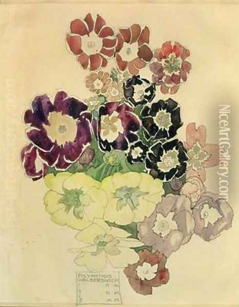 Polyanthus Walberswick 1915 Oil Painting - Charles Rennie Mackintosh