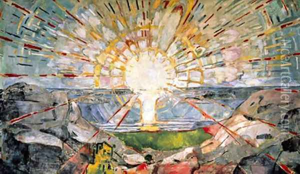The Sun Oil Painting - Edvard Munch