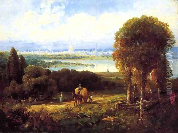 View of Washington, DC Oil Painting - Andrew Melrose