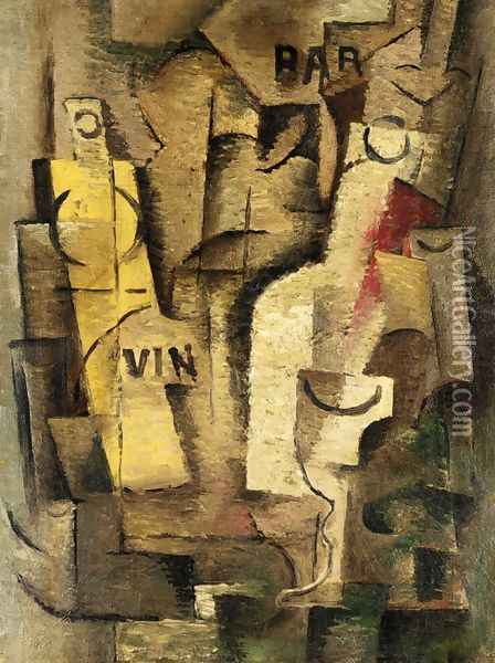 Cubist Composition Oil Painting Reproduction By Jean