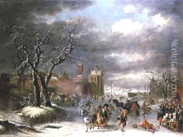 Winter Landscape 5 Oil Painting - Josse de Momper