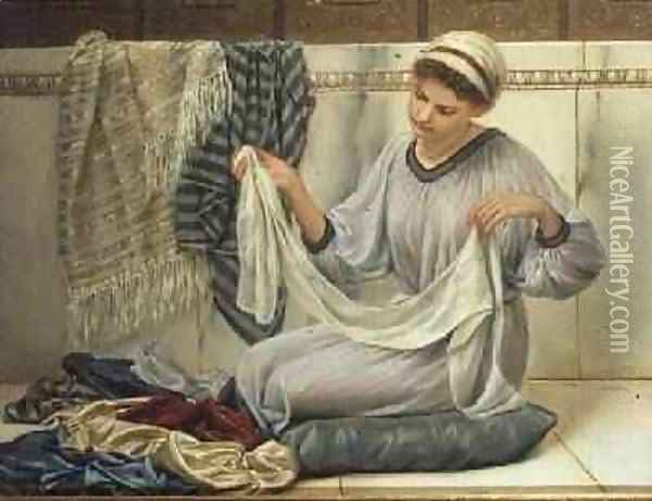 The Shawl Seller Oil Painting - Antonio de Macedo