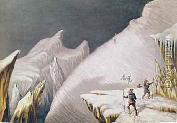 The Arrival at the Summit The Ascent of Mont Blanc by Albert Smith Oil Painting - MacGregor, J. J.