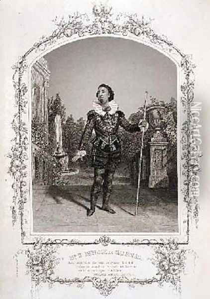 Mr W Davidge as Malvolio Act III Scene 4 of Twelfth Night from a daguerreotype by the Meade Brothers of New York Oil Painting - Charles R. and Henry W. Meade