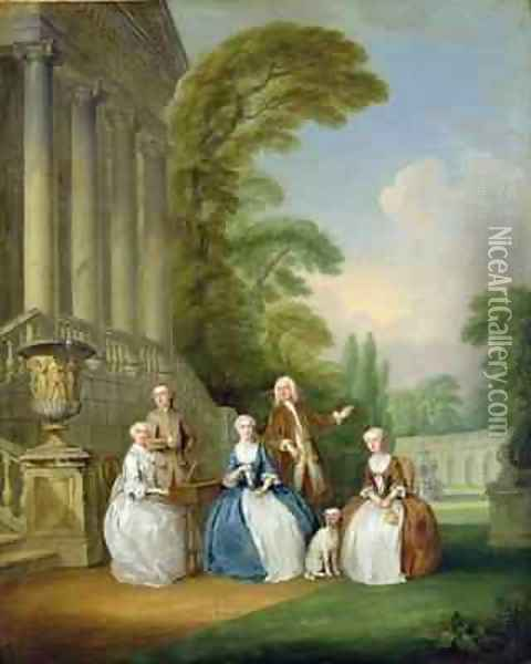 Portrait of a Family 1740 Oil Painting - Joseph Francis Nollekens