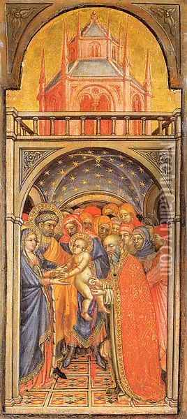 The Circumcision of Jesus 1425 Oil Painting - Ottaviano Nelli