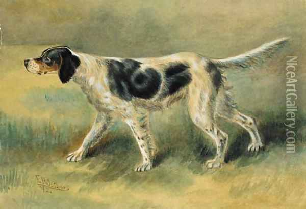 An English Setter Oil Painting - Edmund Henry Osthaus