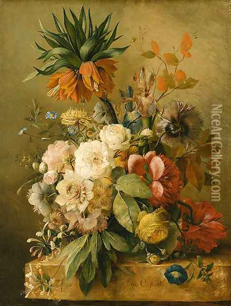 Flowers Oil Painting - Jan van Os