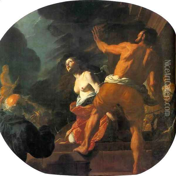 Beheading of St. Catherine Oil Painting - Mattia Preti
