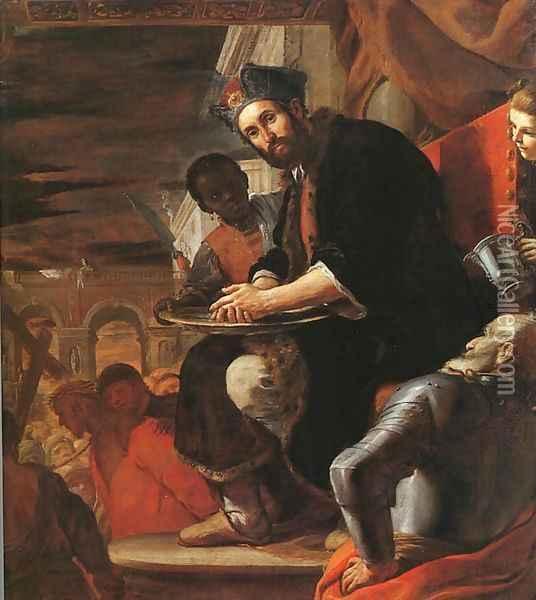 Pilate Washing his Hands 1663 Oil Painting - Mattia Preti