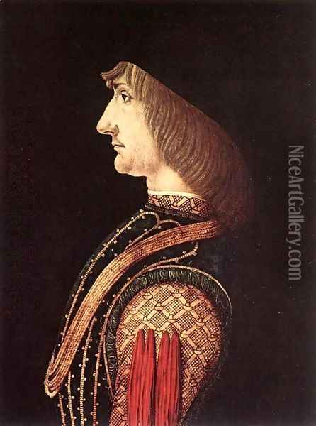 Portrait of a Man c. 1500 Oil Painting - Ambrogio de Predis