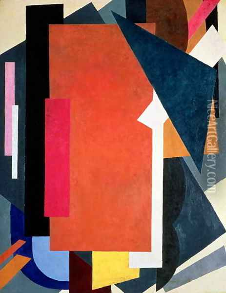 Painterly Architectonics, 1916-17 Oil Painting - Lyubov Popova