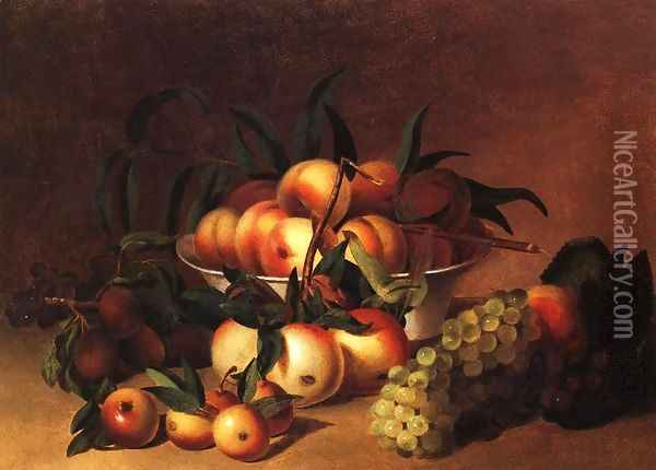 Still Life with Fruit Oil Painting - James Peale