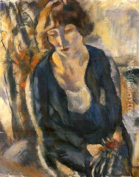 Portrait of Hermine David II Oil Painting - Jules Pascin