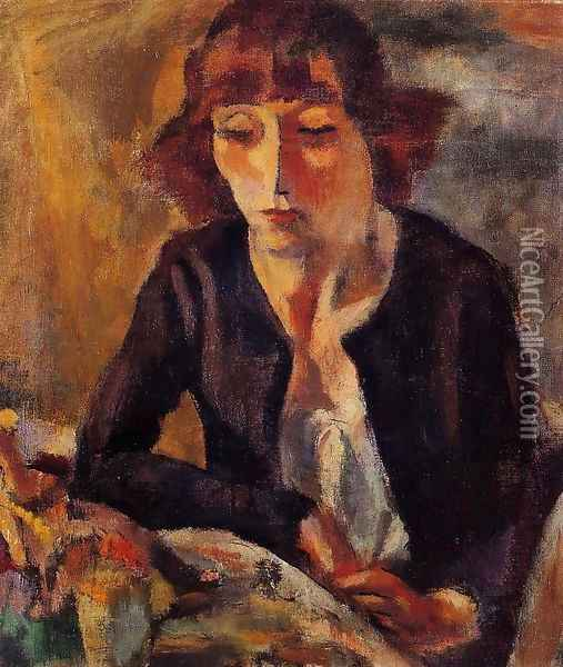 Portrait of Hermine David I Oil Painting - Jules Pascin