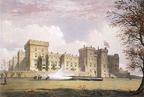 South East View of Windsor Castle, from Windsor and its Surrounding Scenery, 1838 Oil Painting - James Baker Pyne