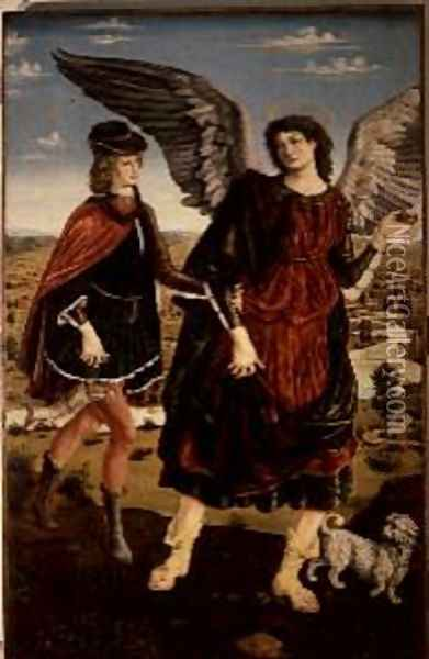 Tobias and the Archangel Raphael Oil Painting - Antonio Pollaiolo