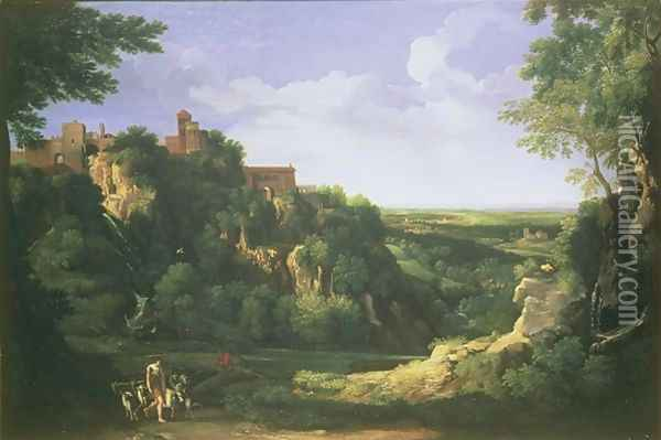 View of Tivoli with Rome in the Distance Oil Painting - Gaspard Dughet Poussin