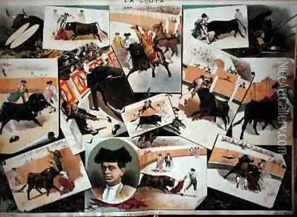 The Bullfighting Season of 1885 Oil Painting - J. Palacios