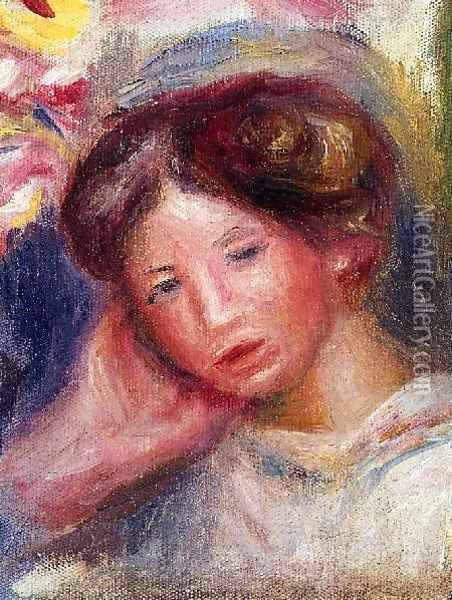 Womans Head8 Oil Painting - Pierre Auguste Renoir