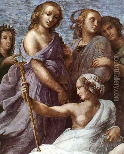 The Parnassus [detail: 1] Oil Painting - Raphael