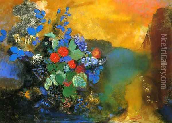 Ophelia 2 Oil Painting - Odilon Redon