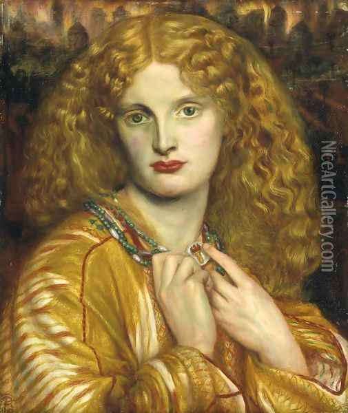 Helen Of Troy Oil Painting - Dante Gabriel Rossetti