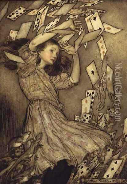 Illustration from Alices Adventures in Wonderland by Lewis Carroll 1832-98 1907 Oil Painting - Arthur Rackham
