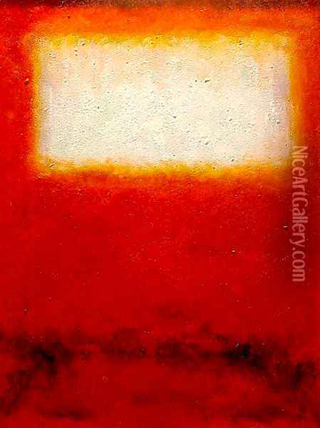 White over Red 2 Oil Painting - Mark Rothko