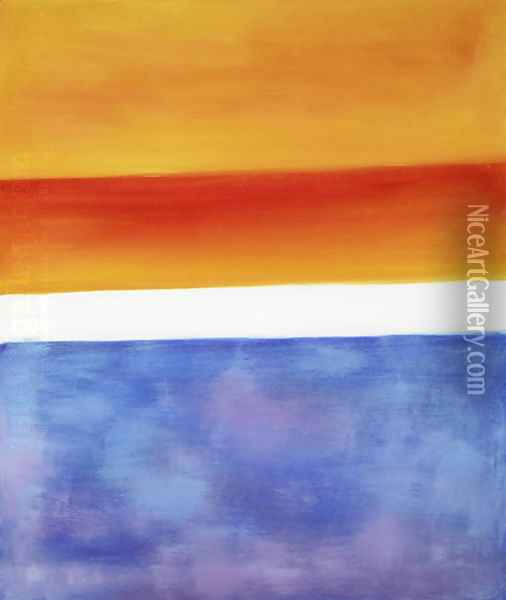 Yellow, Red, Blue Oil Painting - Mark Rothko
