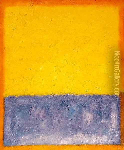 Yellow, Blue, and Orange Oil Painting - Mark Rothko