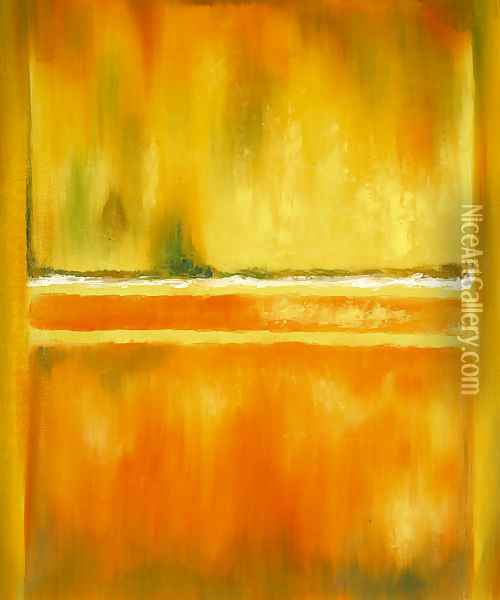 No. 14-10 Yellow Greens Oil Painting - Mark Rothko