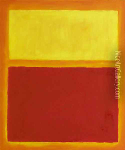 Orange and Yellow Oil Painting - Mark Rothko