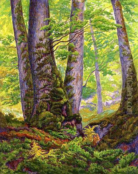 Three Beeches Oil Painting - Paul-Elie Ranson