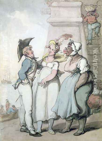 Black Magic Oil Painting - Thomas Rowlandson