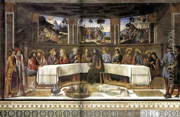 The Last Supper 1481-82 Oil Painting - Cosimo Rosselli