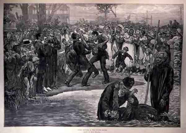 Negro Baptism in the United States, from The Illustrated London News, 21st May 1887 Oil Painting - Regamey, Felix