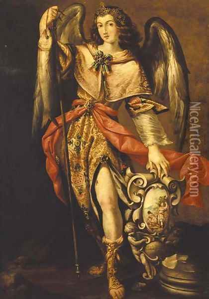 The Archangel Raphael Oil Painting - Francisco Ribalta