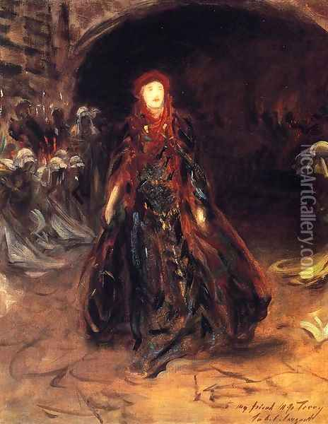 Ellen Terry as Lady Macbeth (sketch) Oil Painting - John Singer Sargent