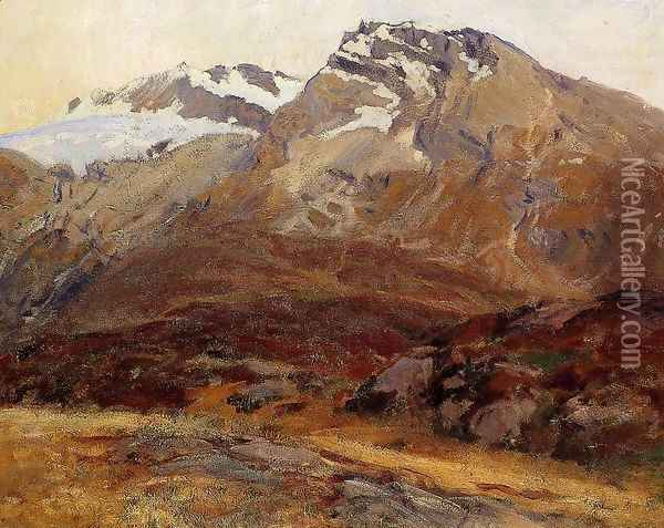 Coming Down from Mont Blanc Oil Painting - John Singer Sargent