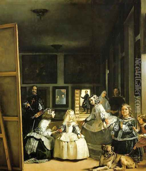 Velazquez and the Royal Family Oil Painting - Diego Rodriguez de Silva y Velazquez