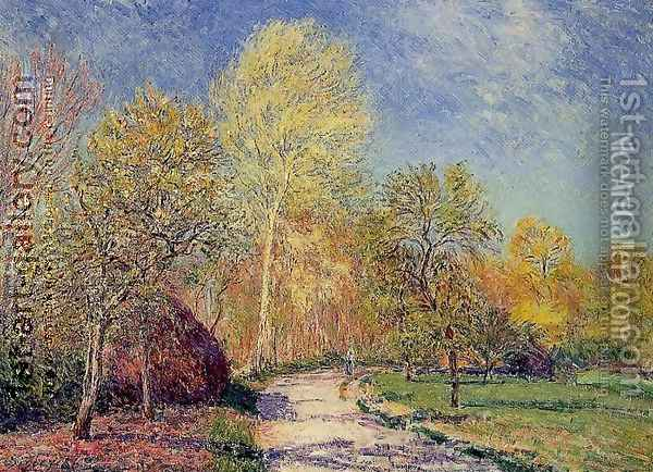 A May Morning in Moret Oil Painting - Alfred Sisley