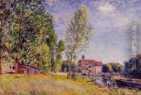 Matrats Boatyard Moret Sur Loing Oil Painting - Alfred Sisley