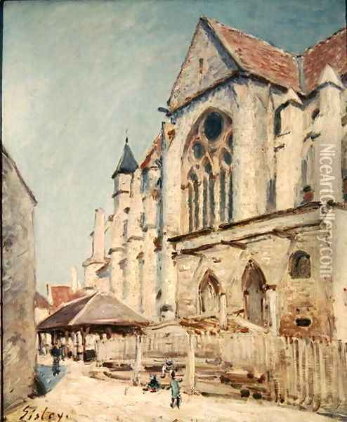 The Church at Moret Oil Painting - Alfred Sisley