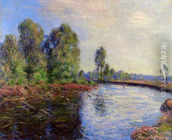 Banks of the Loing I Oil Painting - Alfred Sisley