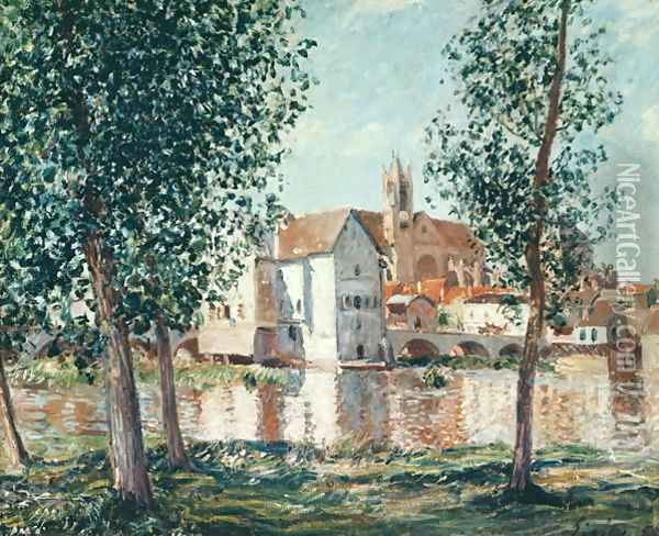 The Loing at Moret, September Morning Oil Painting - Alfred Sisley