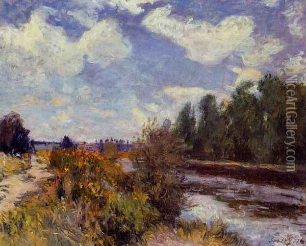 The Seine at Bougival III Oil Painting - Alfred Sisley