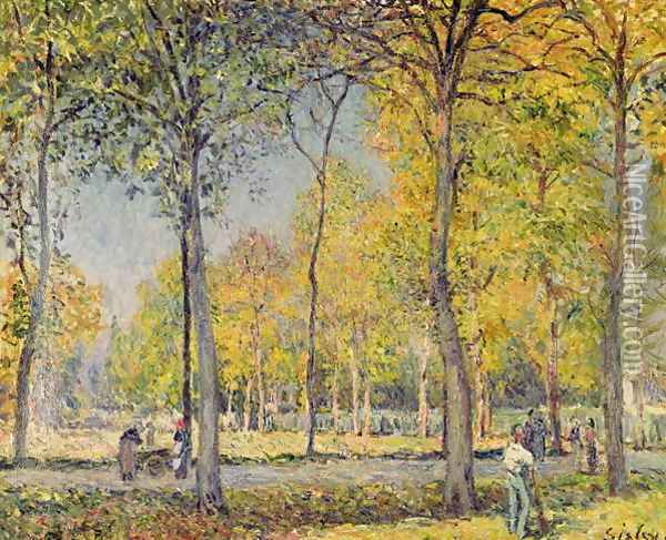 The Bois de Boulogne Oil Painting - Alfred Sisley